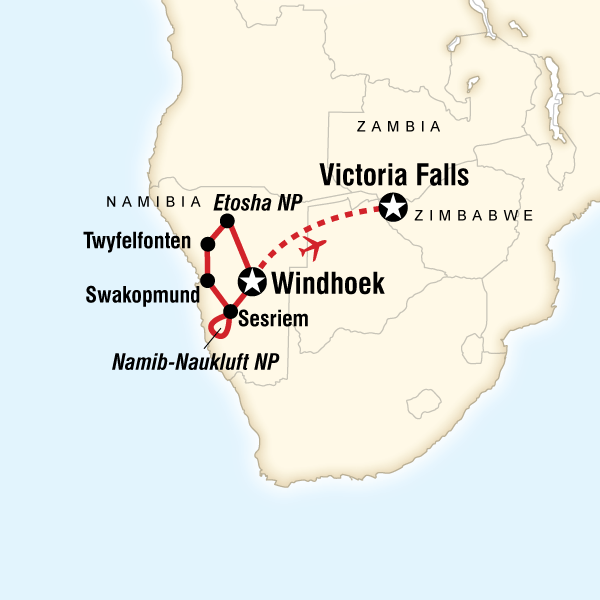 Discover Namibia & Victoria Falls