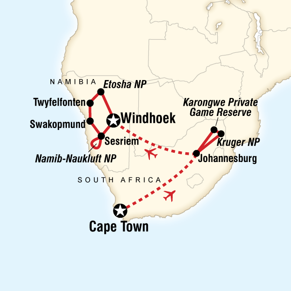 Cape Town, Kruger & Namibia