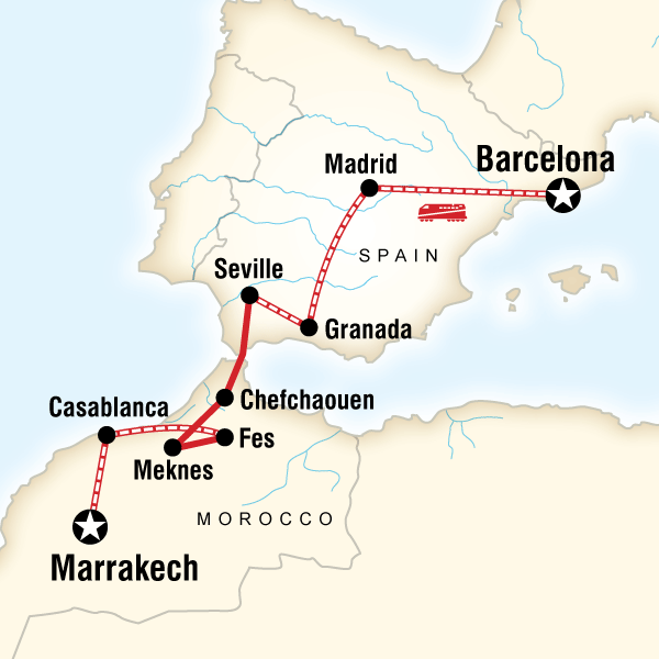 Spain and Morocco by Rail