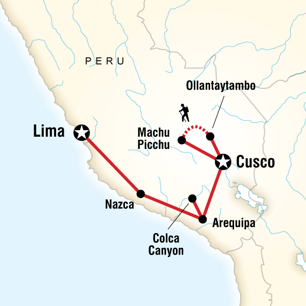 Map of Peru on a Shoestring