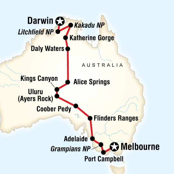 Australia North to South – Darwin to Melbourne