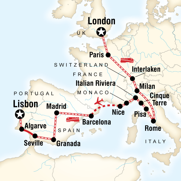 London to the Mediterranean on a Shoestring