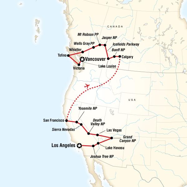 goXplore Abenteuerreisen,West Coast Discovery - US & Canada ...
