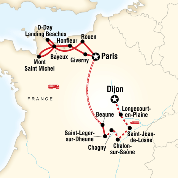 Explore Normandy and Burgundy