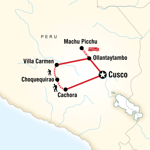 Choquequirao to Machu Picchu Express