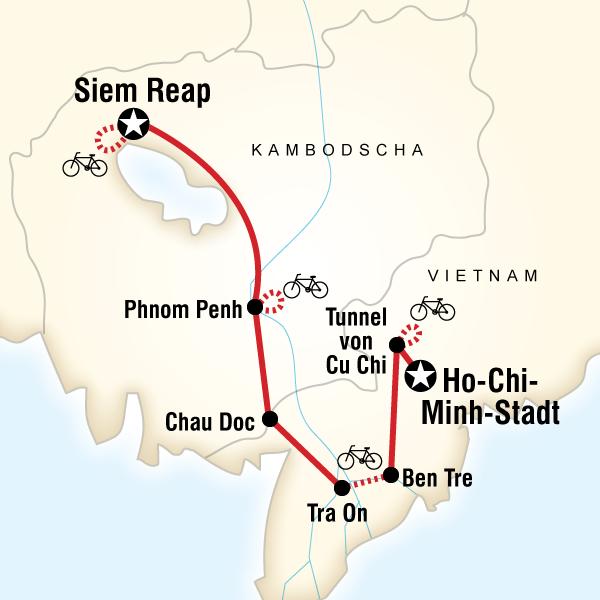Südostasien mit dem Fahrrad – Von Ho-Chi-Minh-Stadt nach Siem Reap