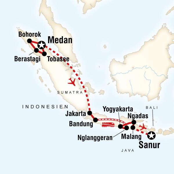 Das Beste von Sumatra & Java