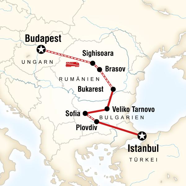 Von Budapest nach Istanbul mit dem Zug