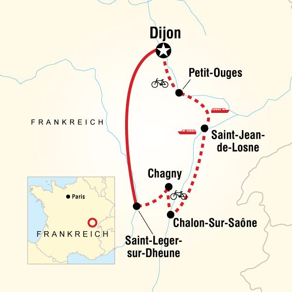 Kreuzfahrt in Burgund