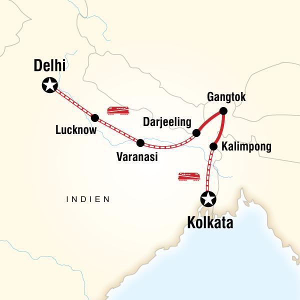 Nordostindien & Darjeeling mit dem Zug