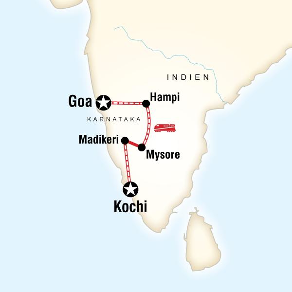 Südindien & Karnataka mit dem Zug