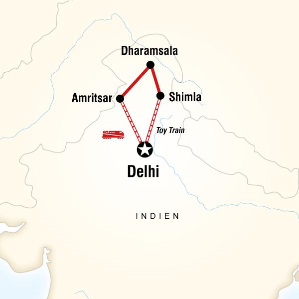 Nordindien mit dem Zug