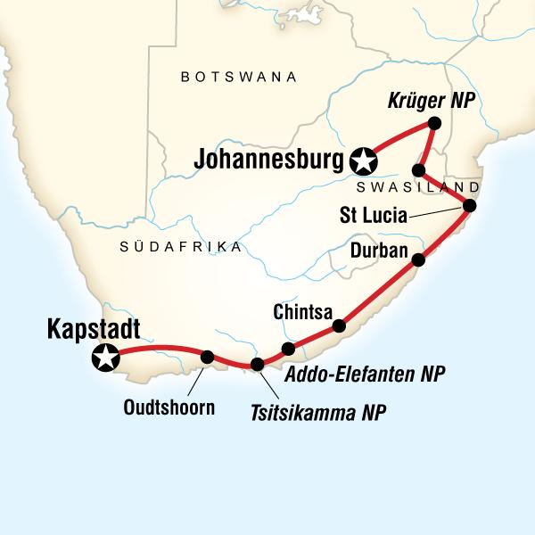 Abenteuer Südafrika & Swasiland – Safaris & Strände