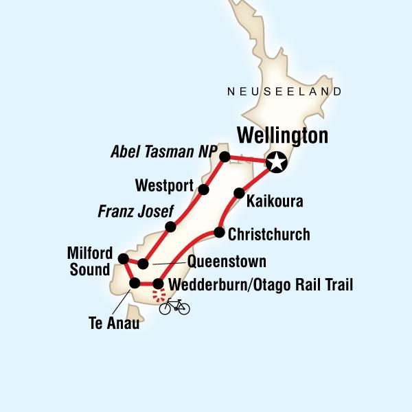 Neuseeland – Südinsel Rundreise