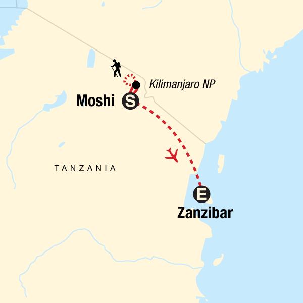 Kilimanjaro - Lemosho Route & Zanzibar Adventure