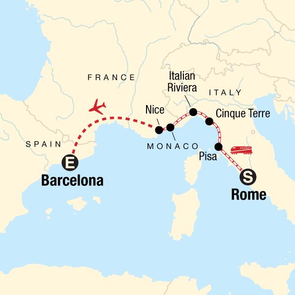 Mediterranean Express: Rivieras & Railroads