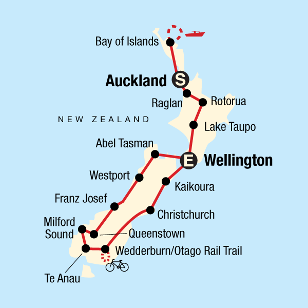 New Zealand Encompassed: Harbours & Houseboats Map