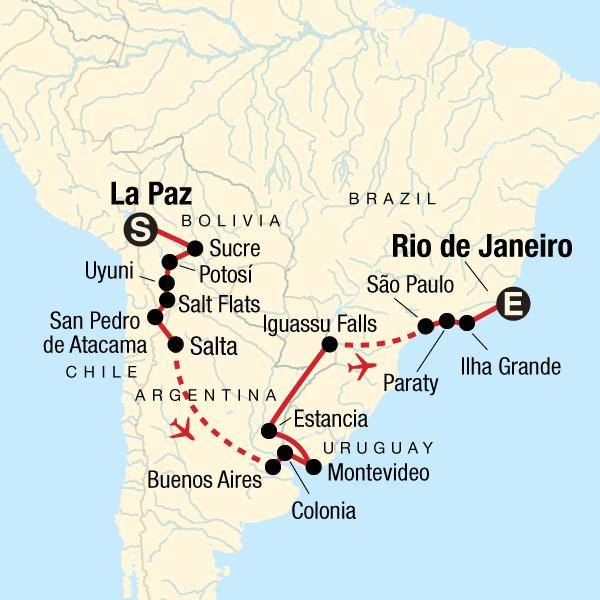 Journey From Bolivia To Brazil La Paz Rio De Statravel Hu