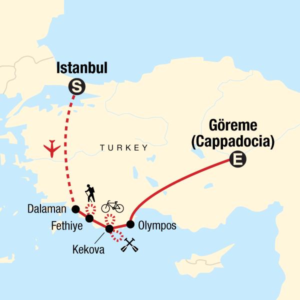 Turkey Multisport Map