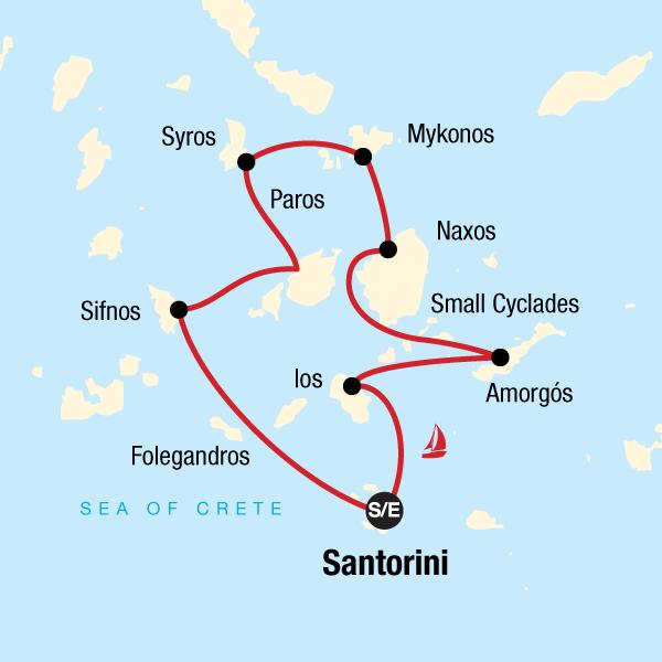 Segeln in Griechenland – Von Santorini nach Santorini
