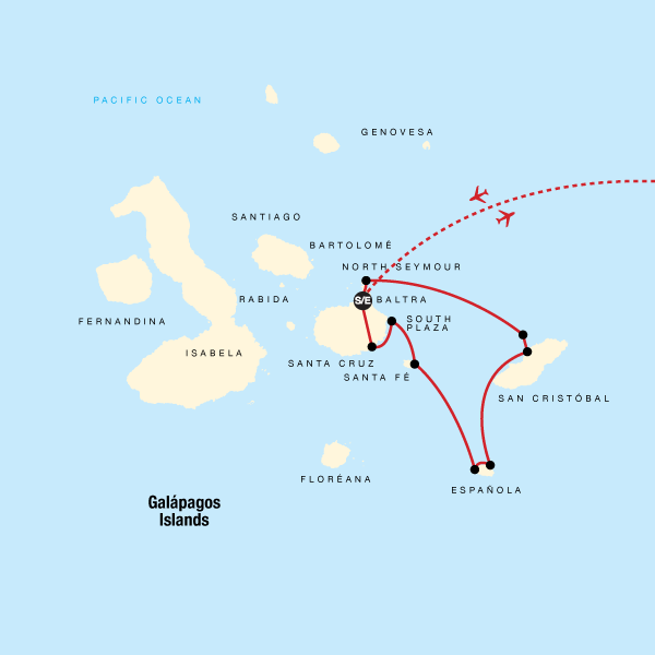 Galápagos — South & East Islands aboard the Yolita