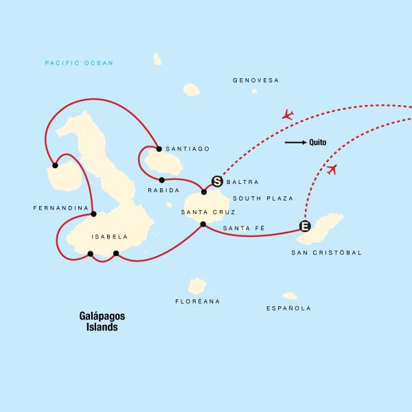 Galápagos — West, Central & East Islands aboard the Estrella del Mar