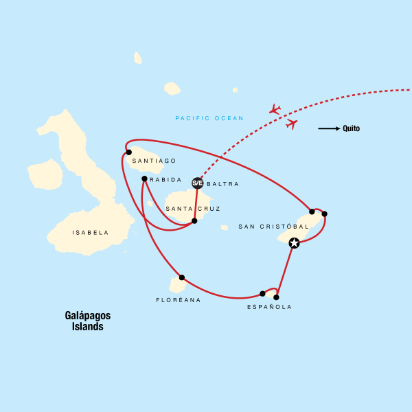 Galápagos — Central, East & South Islands aboard the Xavier III