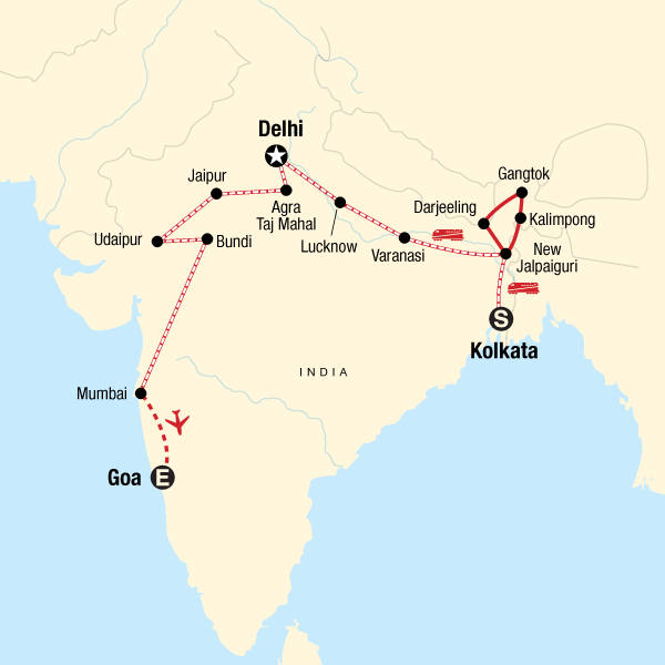 Kolkata to Goa by Rail