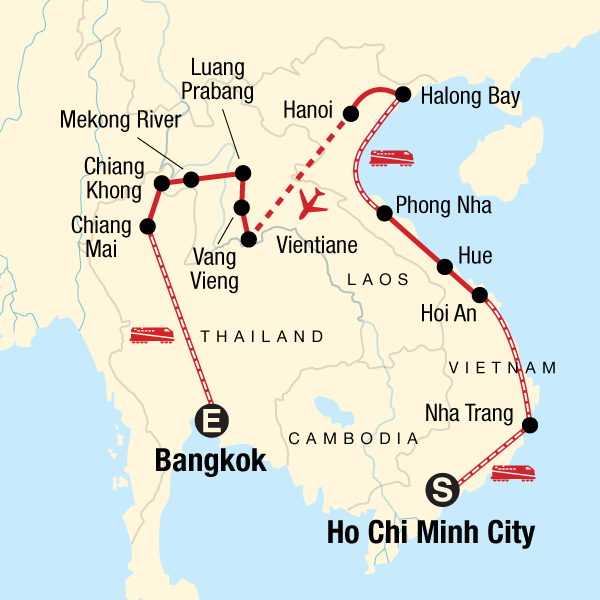 thailand and vietnam map Indochina Holiday Vietnam Laos And Thailand Helping Dreamers Do