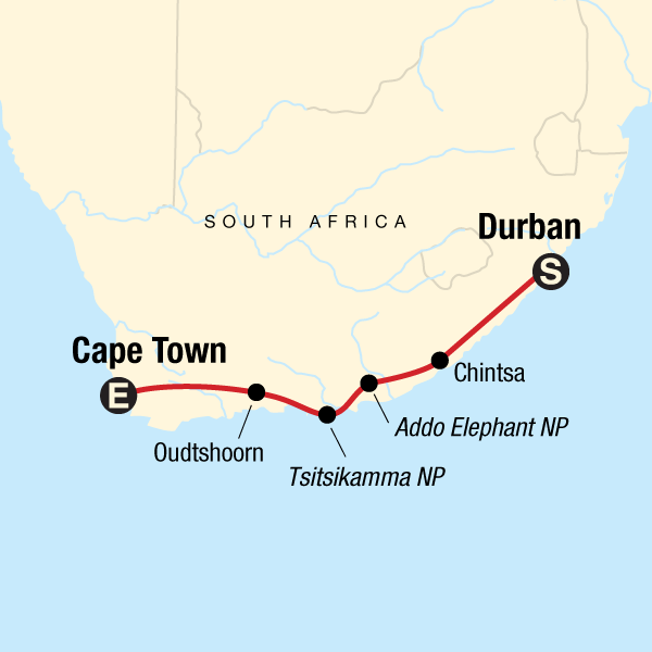 South Africa Overland: Sea Cliffs & Safari Drives