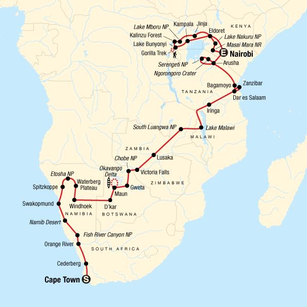 Ultimatives Afrika – Safarifahrten & Savannen