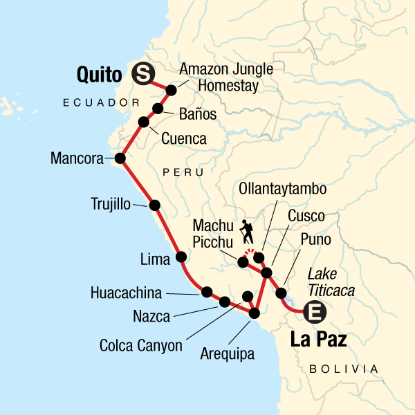Quito to La Paz: Amazon & Ancient Cultures