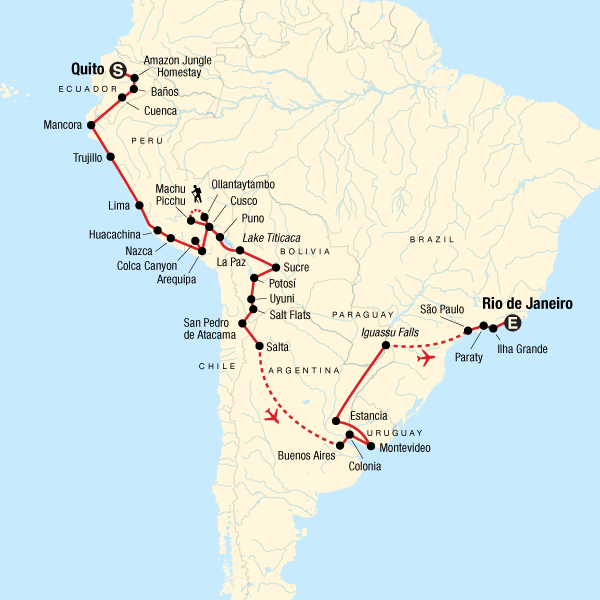 The Great South American Journey: Quito to Rio Adventure