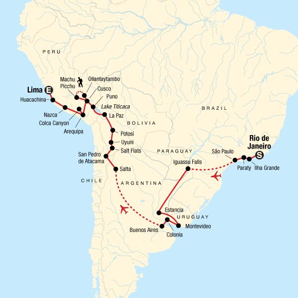 Von Rio de Janeiro nach Lima – Machu Picchu & Prachtvolle Märkte