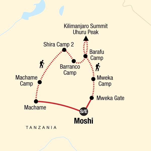 Mt Kilimanjaro Trek - Machame Route (8 Days)