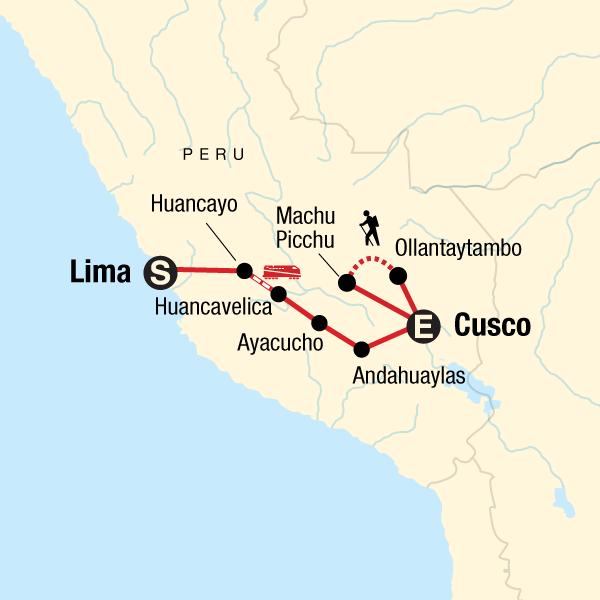Das Hochland von Peru