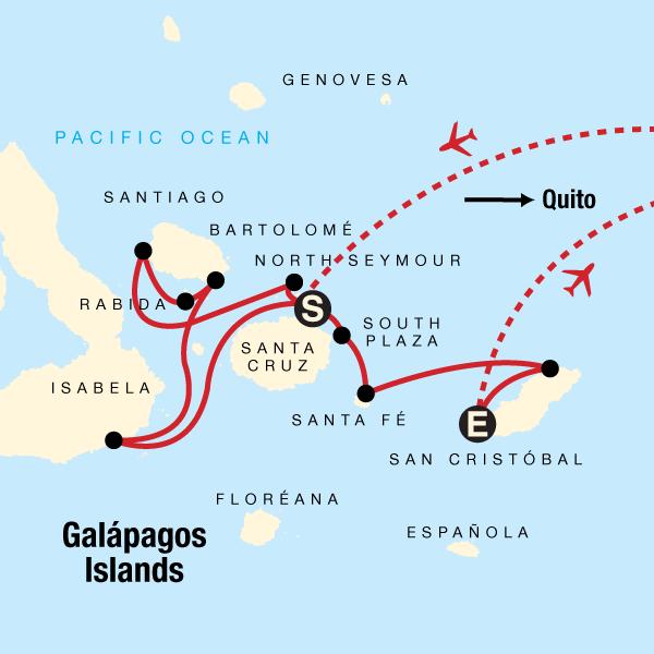 Galápagos - Westliche, zentrale und östliche Inseln an Bord der Monserrat