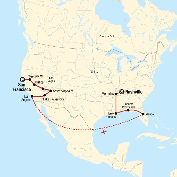 USA Road Trip: Best of Nashville to San Francisco