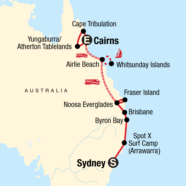 East Coast Encompassed: Sydney to Cairns