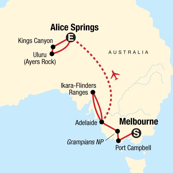 Von Melbourne zum Red Centre – Oceans & Outback