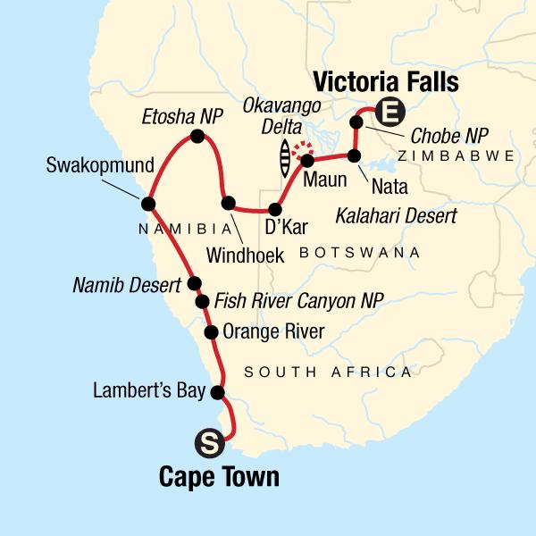 Von Kapstadt zu den Victoriafällen