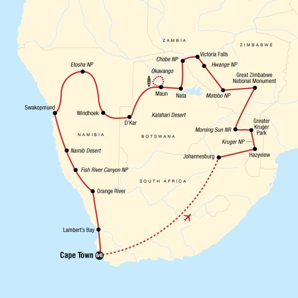 Die Highlights vom Süden Afrikas