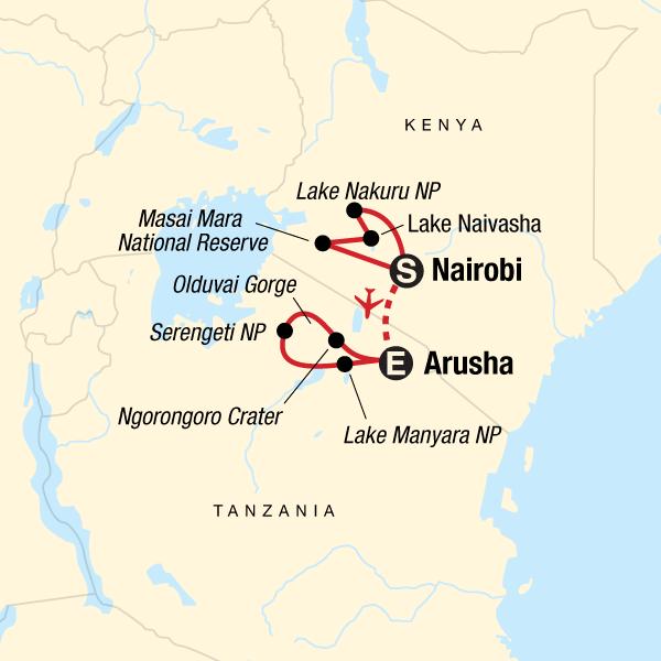 Safari in Kenya & Tanzania - Nairobi-Arusha utazás STATravel hu