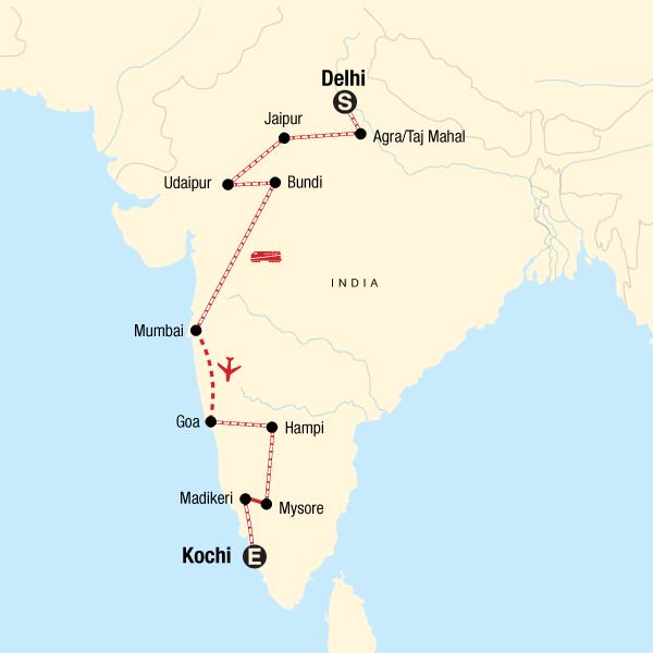 Von Delhi nach Kochi mit dem Zug