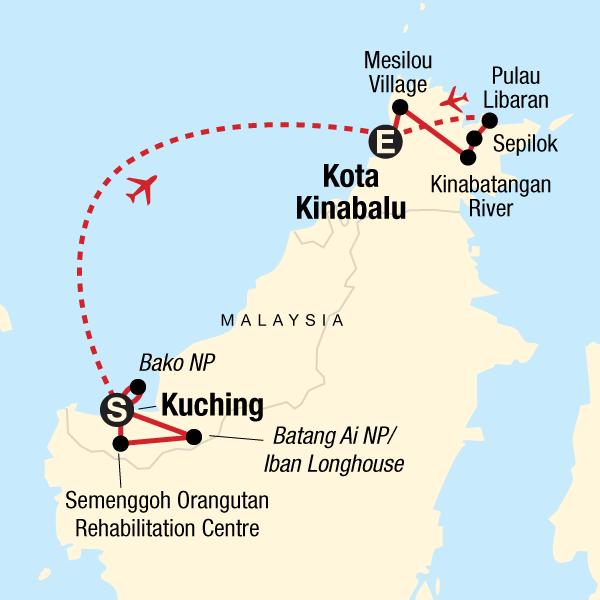 Erlebnisreise in Sarawak und Ost-Sabah