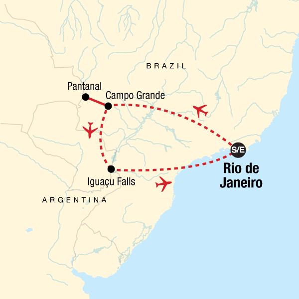 Explore Brazil Map