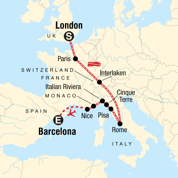 London to Barcelona: Tapas & Train Rides