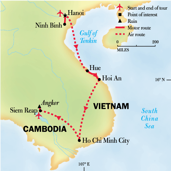 Southeast Asia Family Journey: Vietnam to Cambodia Map