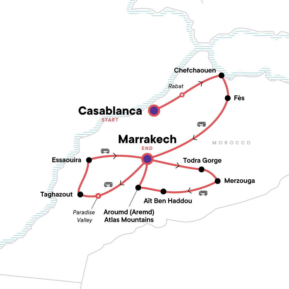Morocco Adventure: Culture & Colour Map