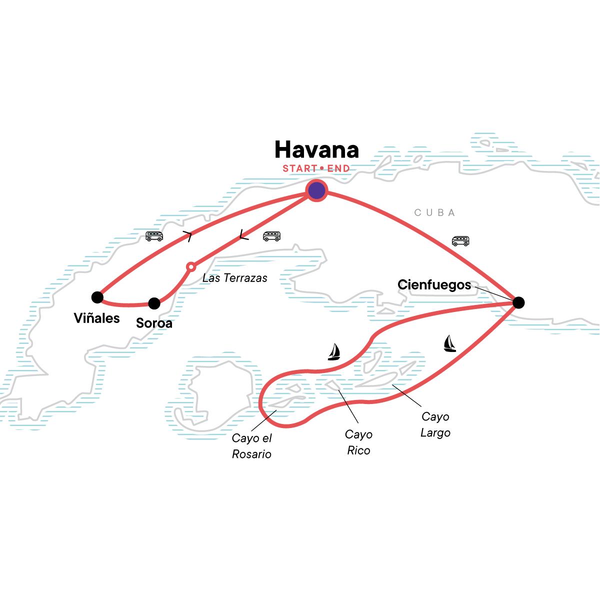 Cuba Libre & Sailing Map